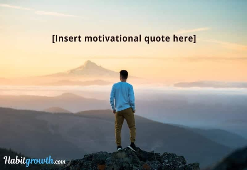 Motivational quote