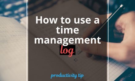 How to use a time management log