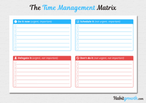 Time Management Matrix Free Template