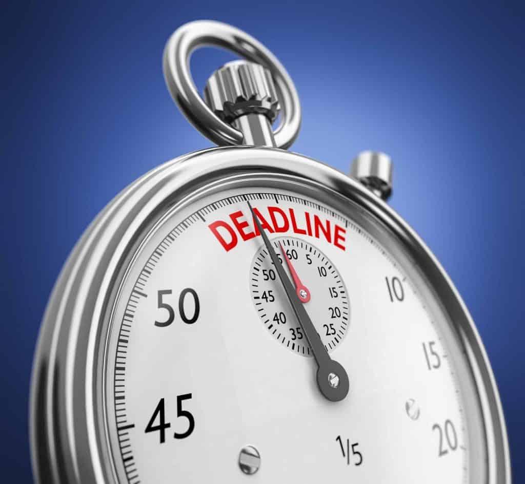 Artificial deadline